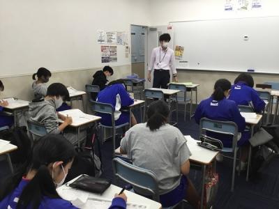 通塾でのテスト対策授業
