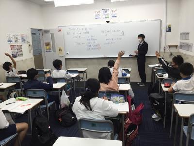小5授業参観の様子。楽しい授業が展開されました。