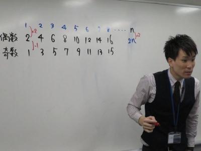 テンポの良い授業で生徒をぐいぐい引っ張ります!